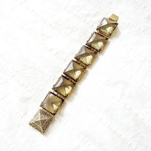 C Wonder olive green jewel bracelet